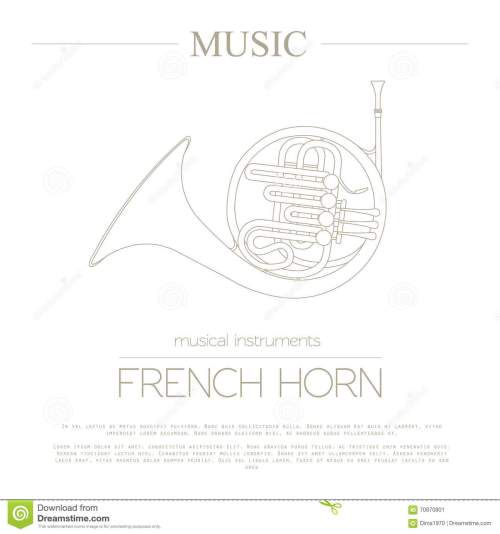 small resolution of musical instruments graphic template french horn