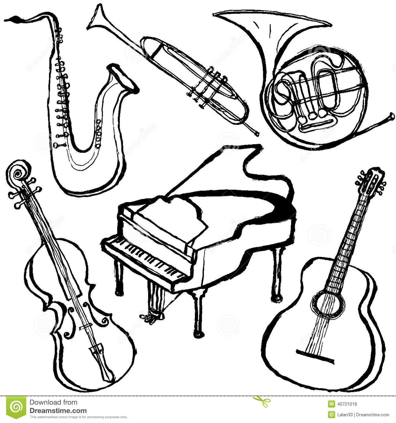 Violin Music Book Covers Coloring Pages