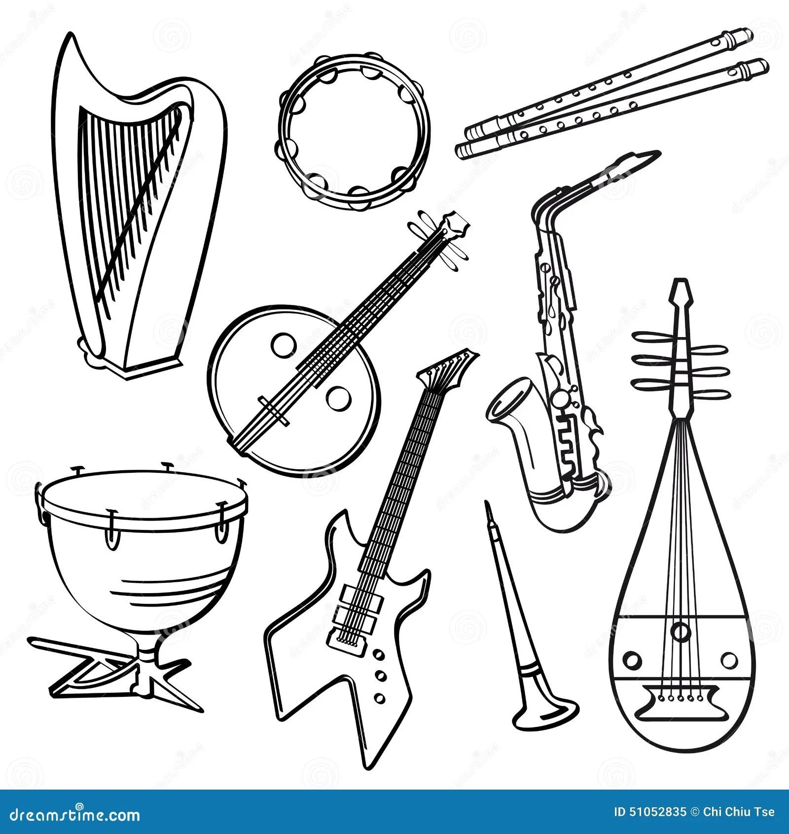 Musical Instruments stock illustration. Illustration of