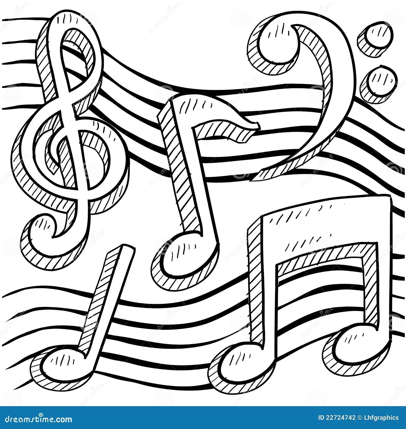 Musik Beachtet Skizze Vektor Abbildung Bild Von Musiker
