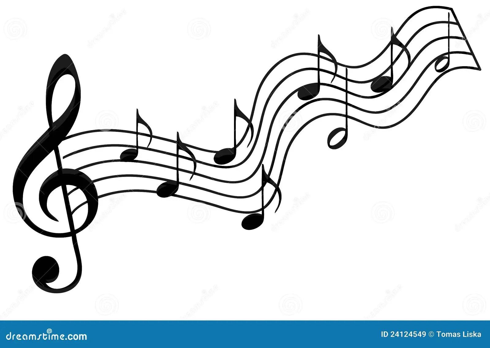 Musikanmerkungen stock abbildung. Illustration von