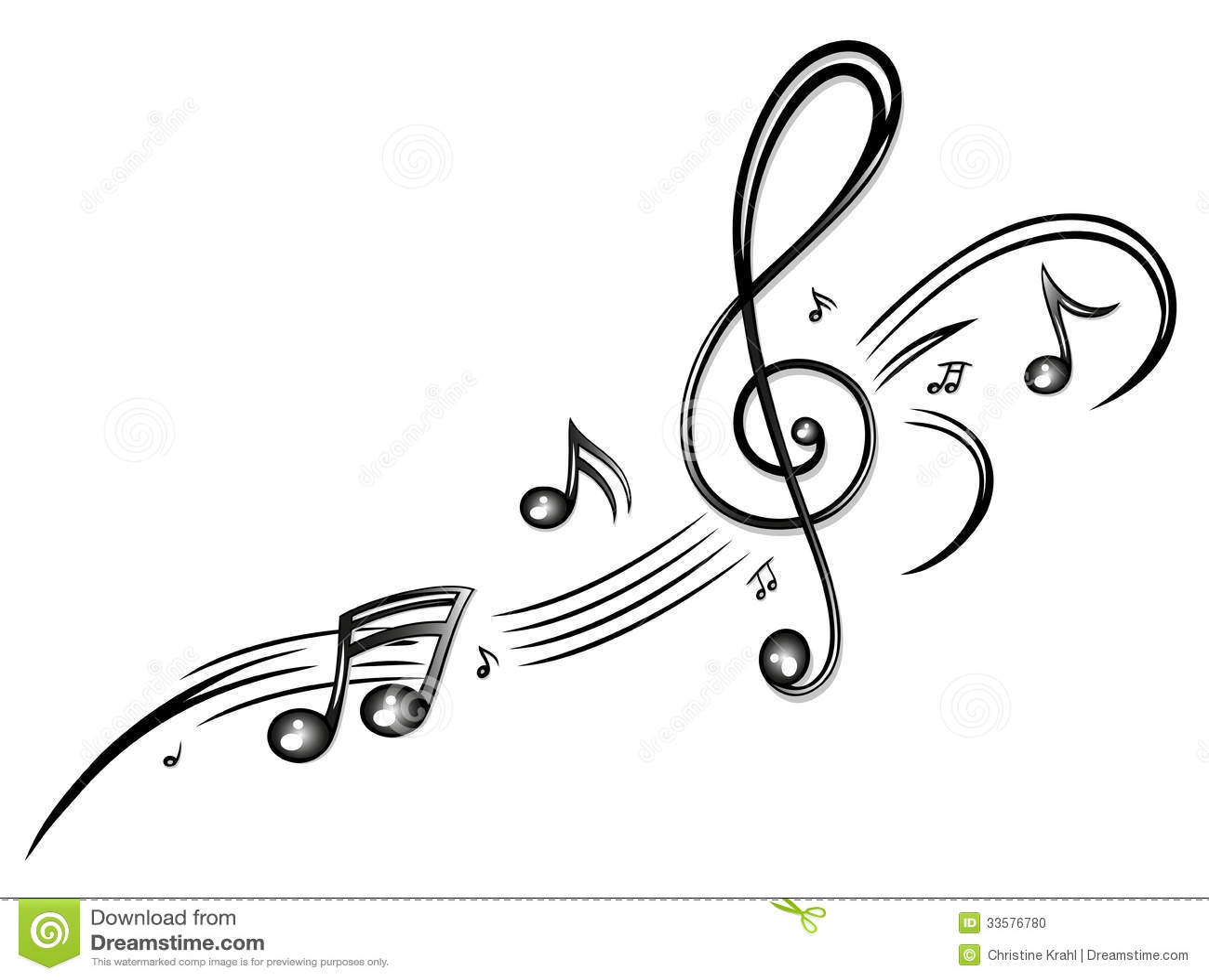 Musique Notes De Musique Clef Photo Stock
