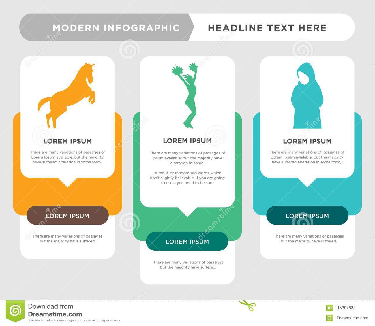 hight resolution of muslim girl business infographic template the concept is option step with full color icon can be used for cheerleading diagram infograph chart business