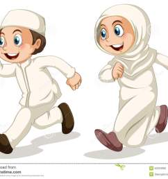 muslim boy and girl running [ 1300 x 1039 Pixel ]