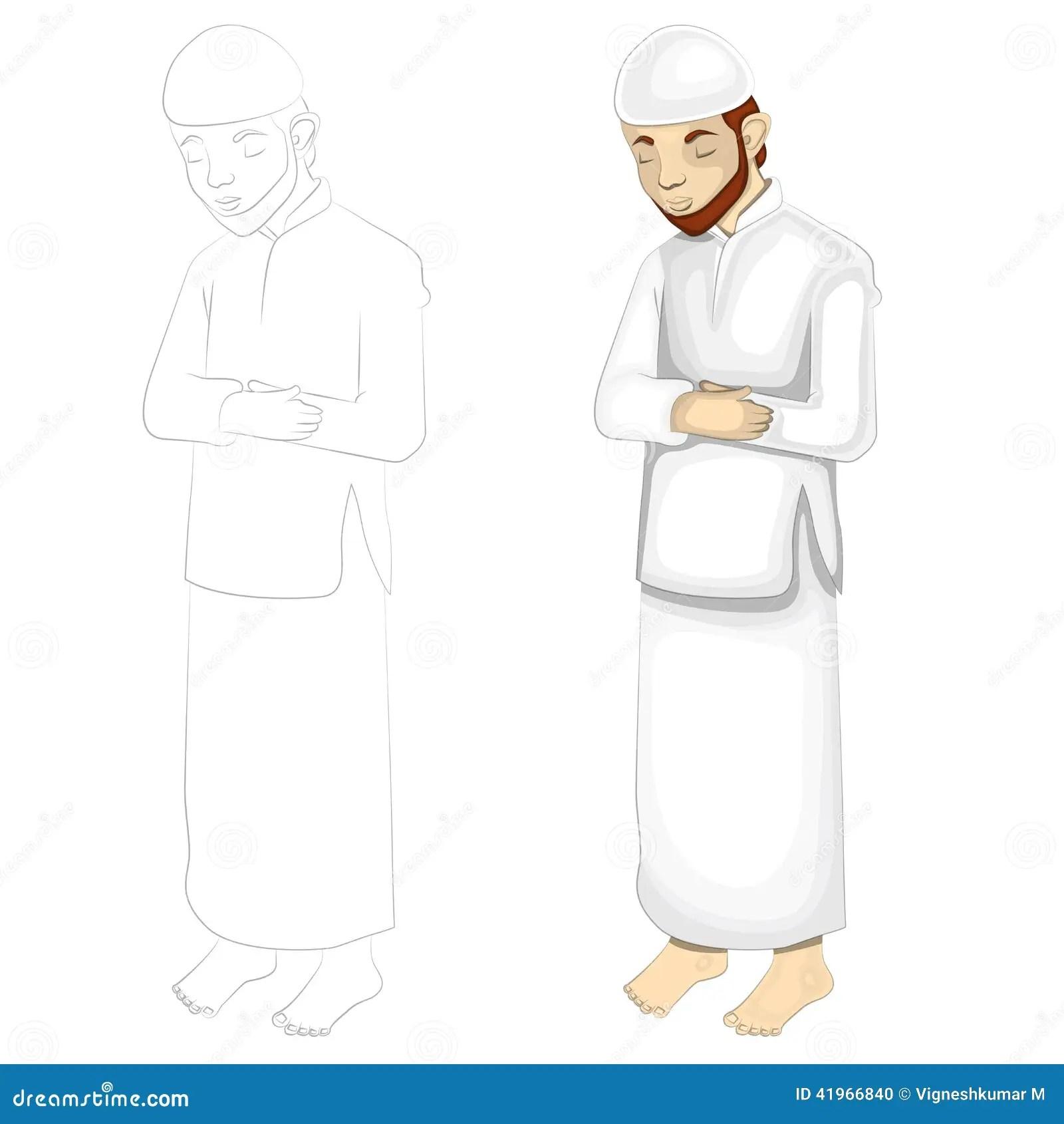 Muslim Prayer Stock Vector Illustration Of Offering