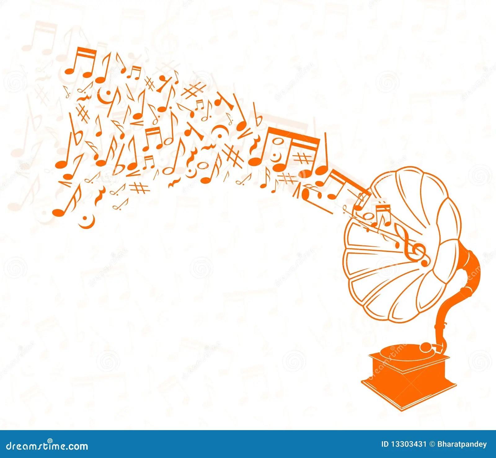 Muziek Achtergrond Stock Afbeelding  Beeld 13303431