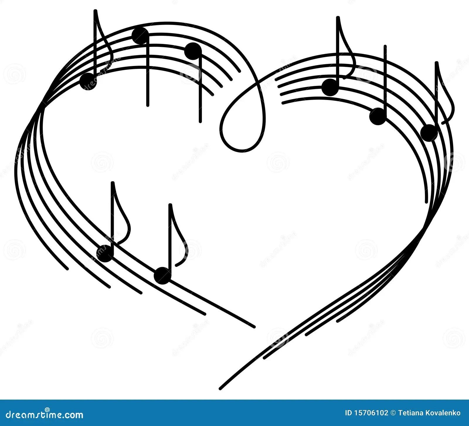 Muziek van liefde. vector illustratie. Illustratie