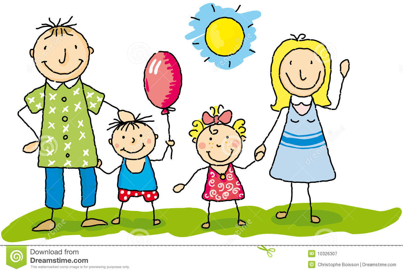 My Family Is Happy Royalty Free Stock Photography