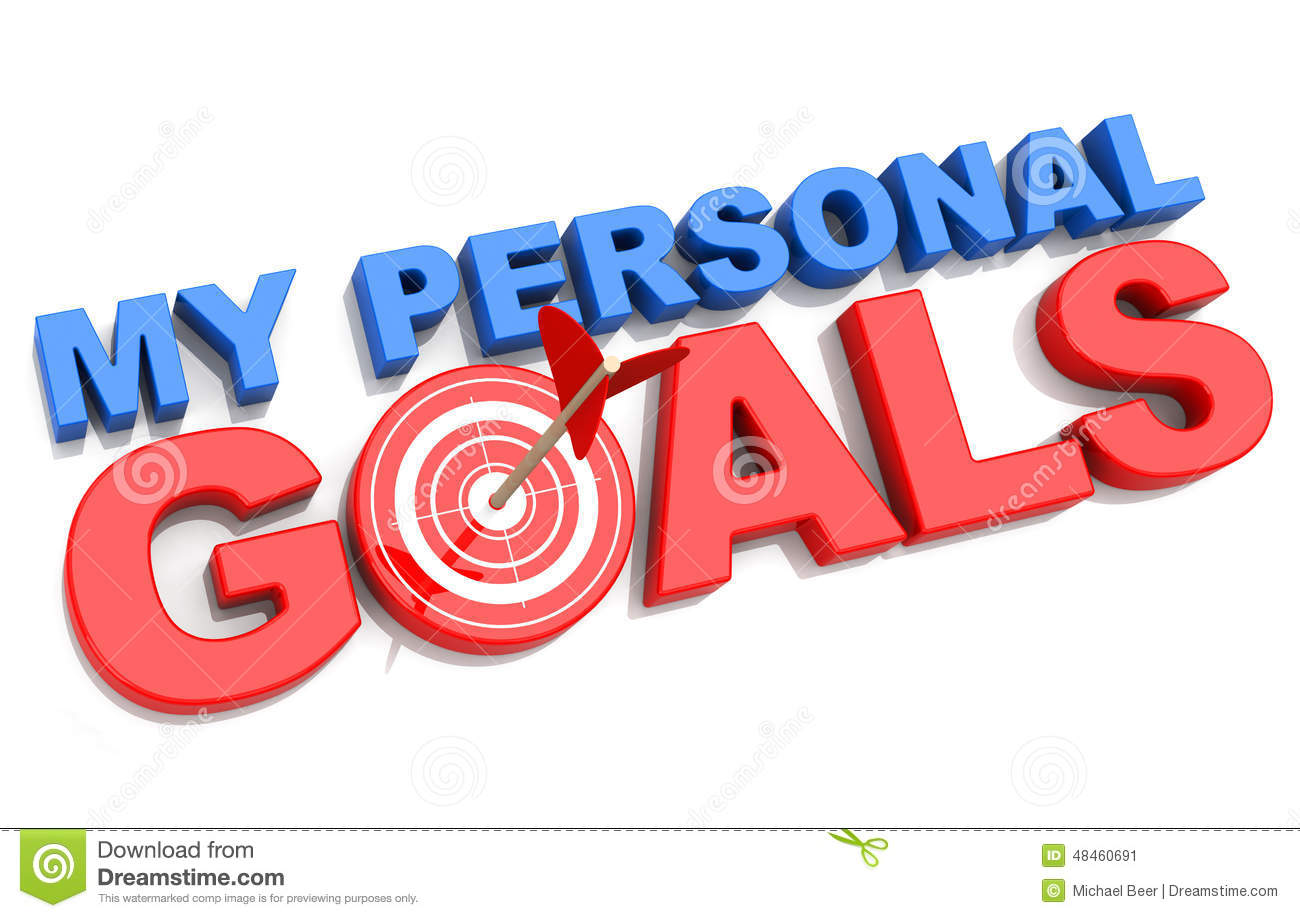My Personal Goals Stock Illustration Illustration Of