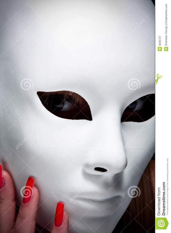 Mysterious Woman Under Mask Royalty Free Stock