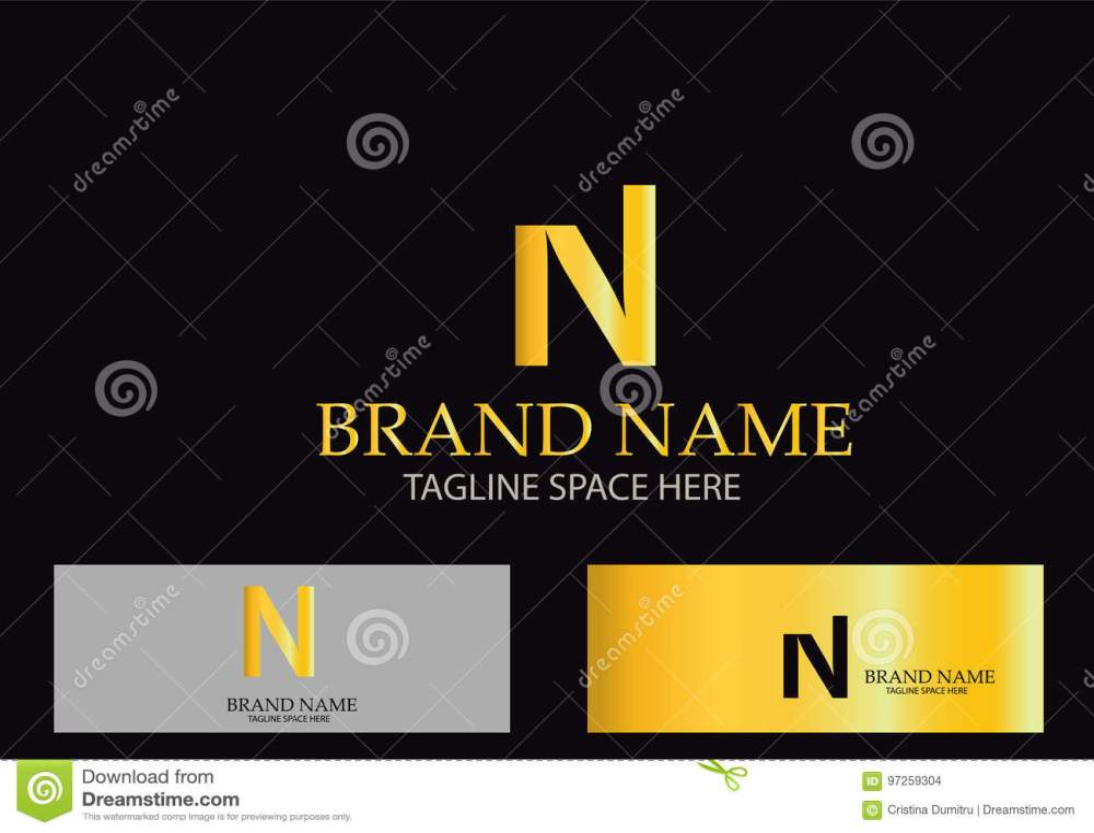 medium resolution of n letter logo design vector