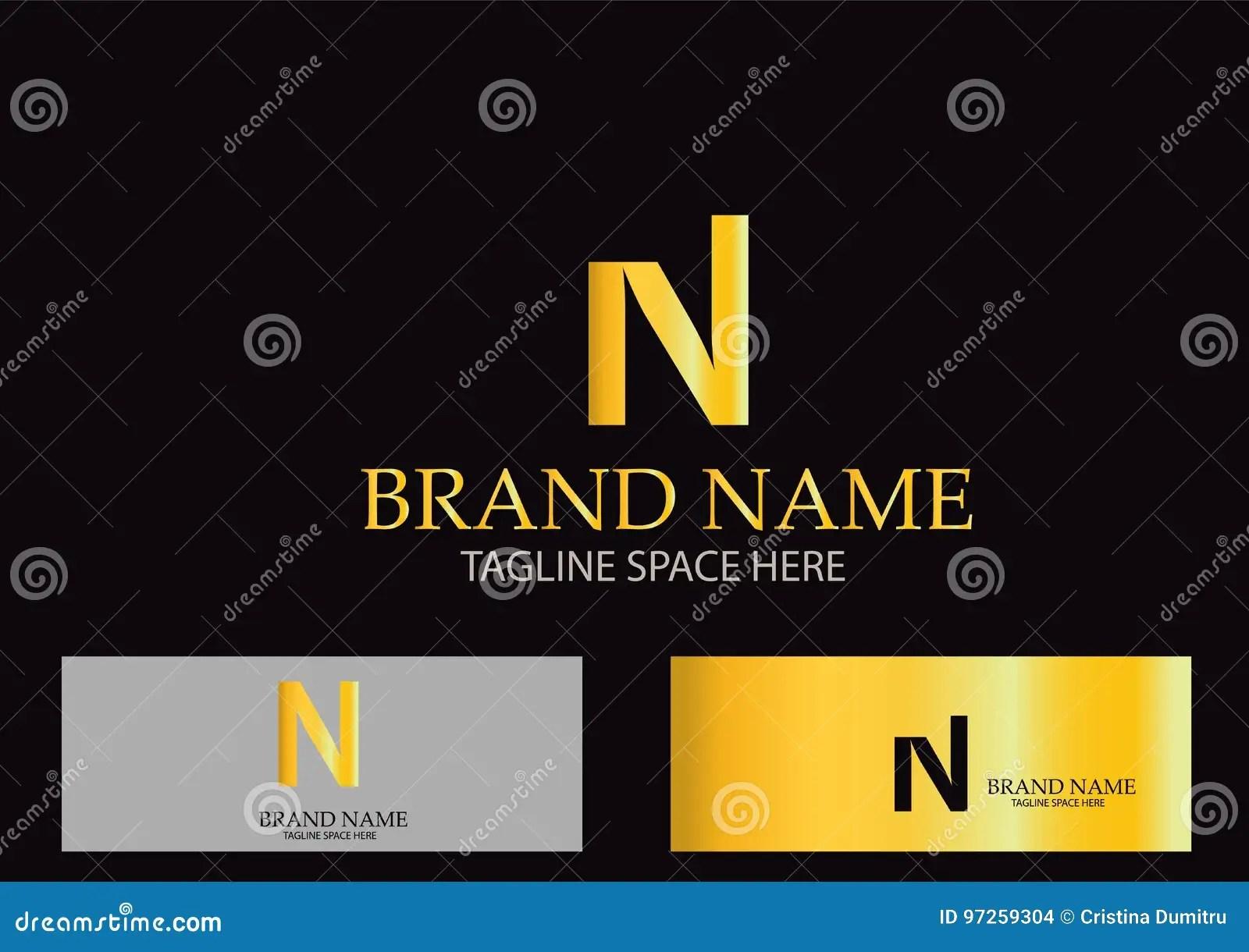 hight resolution of n letter logo design vector