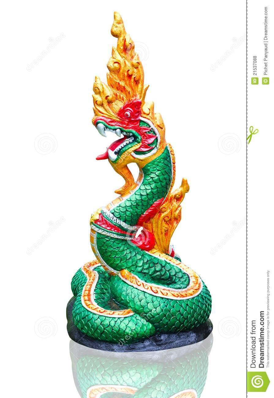 Naga Thai statue stock photo Image of building