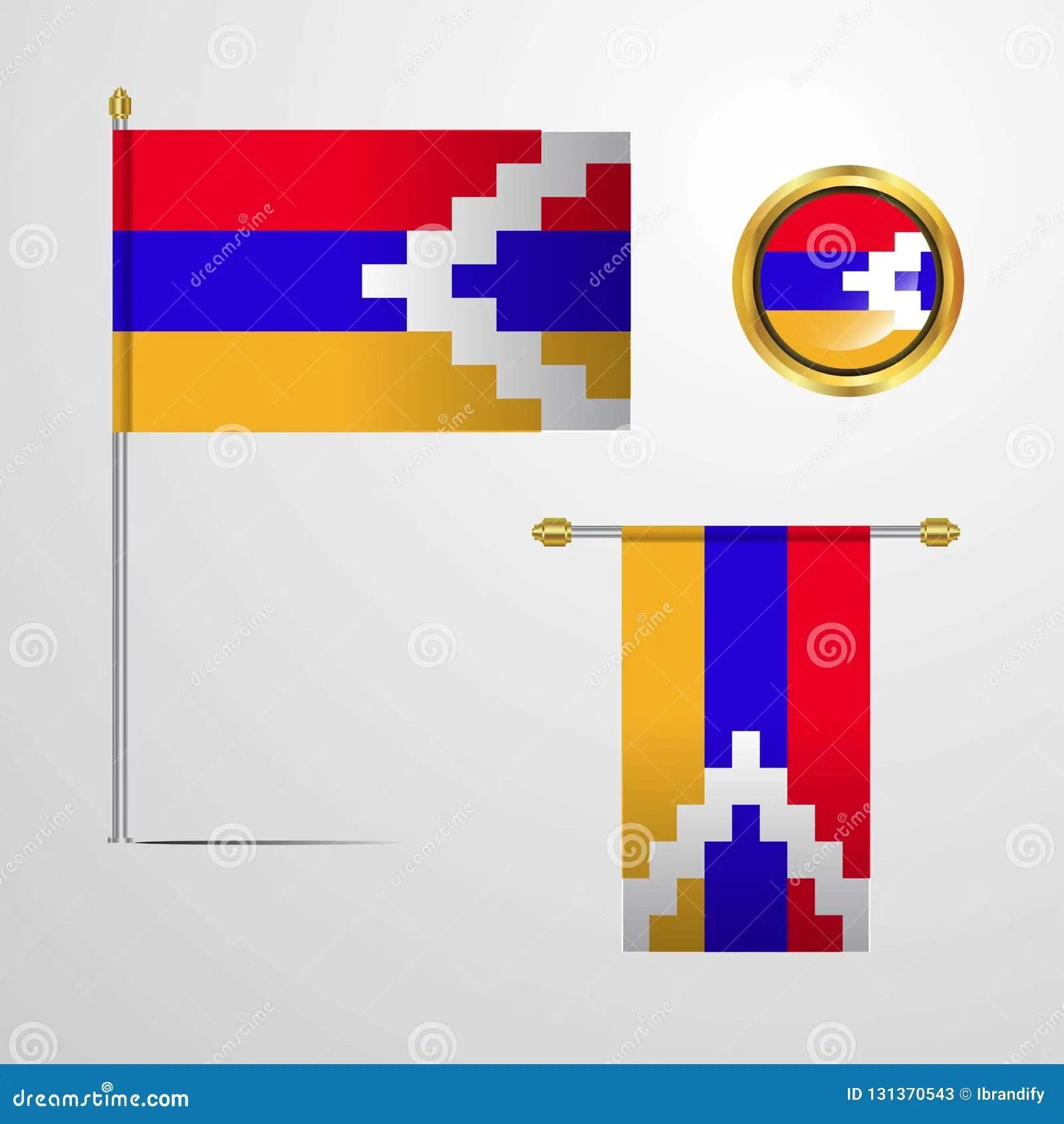 nagorno karabakh republic waving
