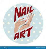 nail art label stock vector