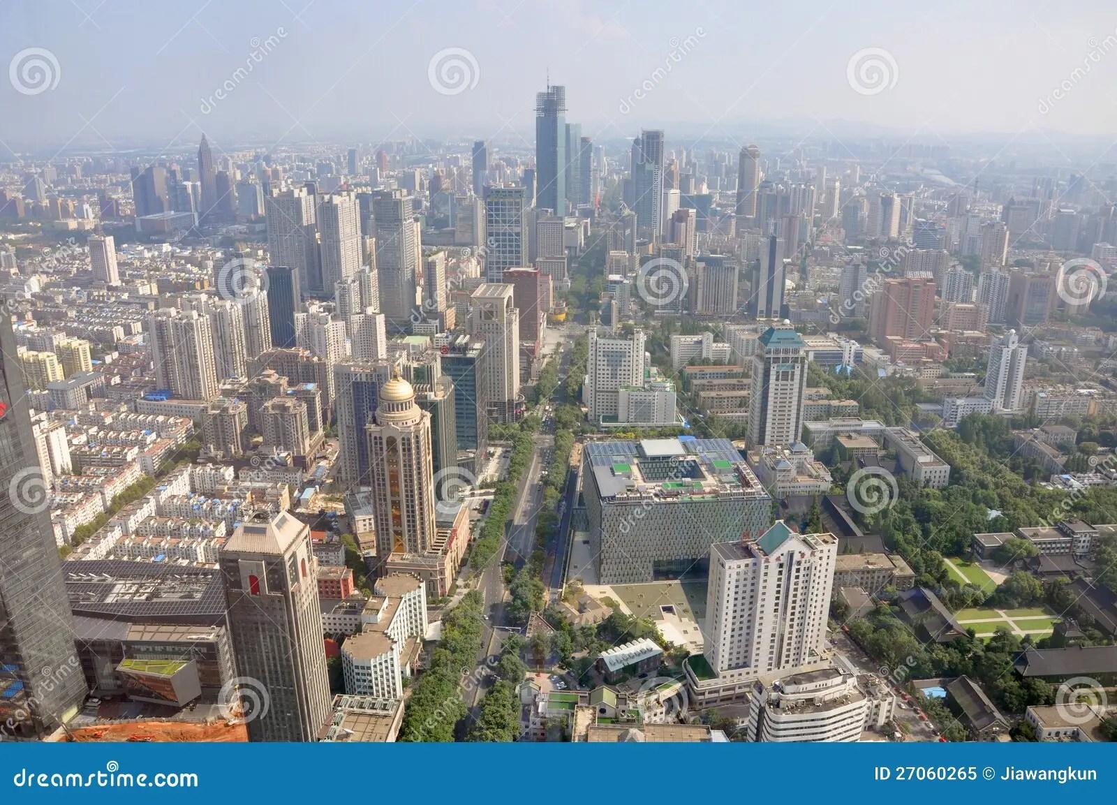 Nanjing Modern Skyline China Editorial Image Image