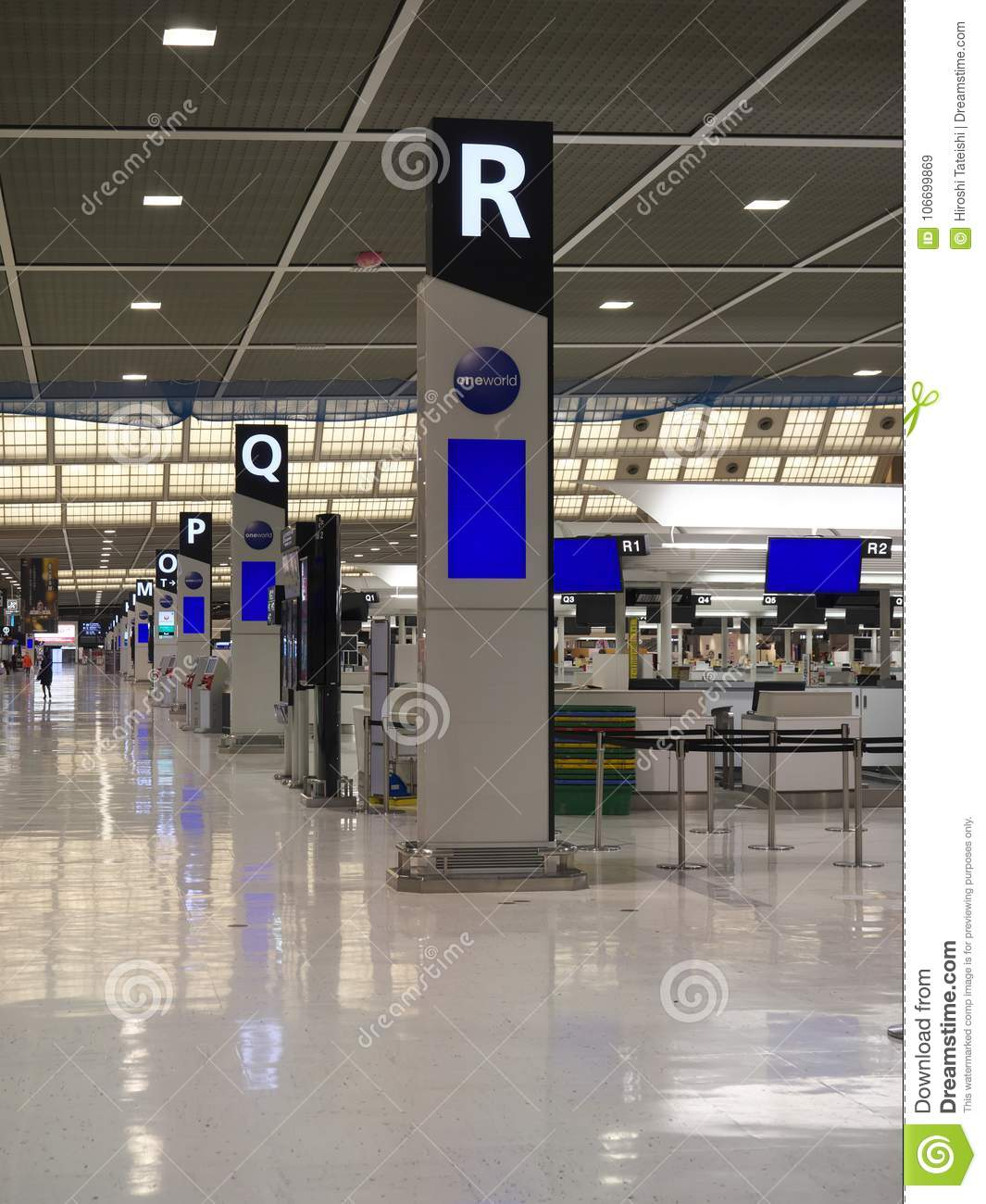 Narita Airport Terminal 2 In The Night Editorial Stock Image - Image of check. airport: 106699869
