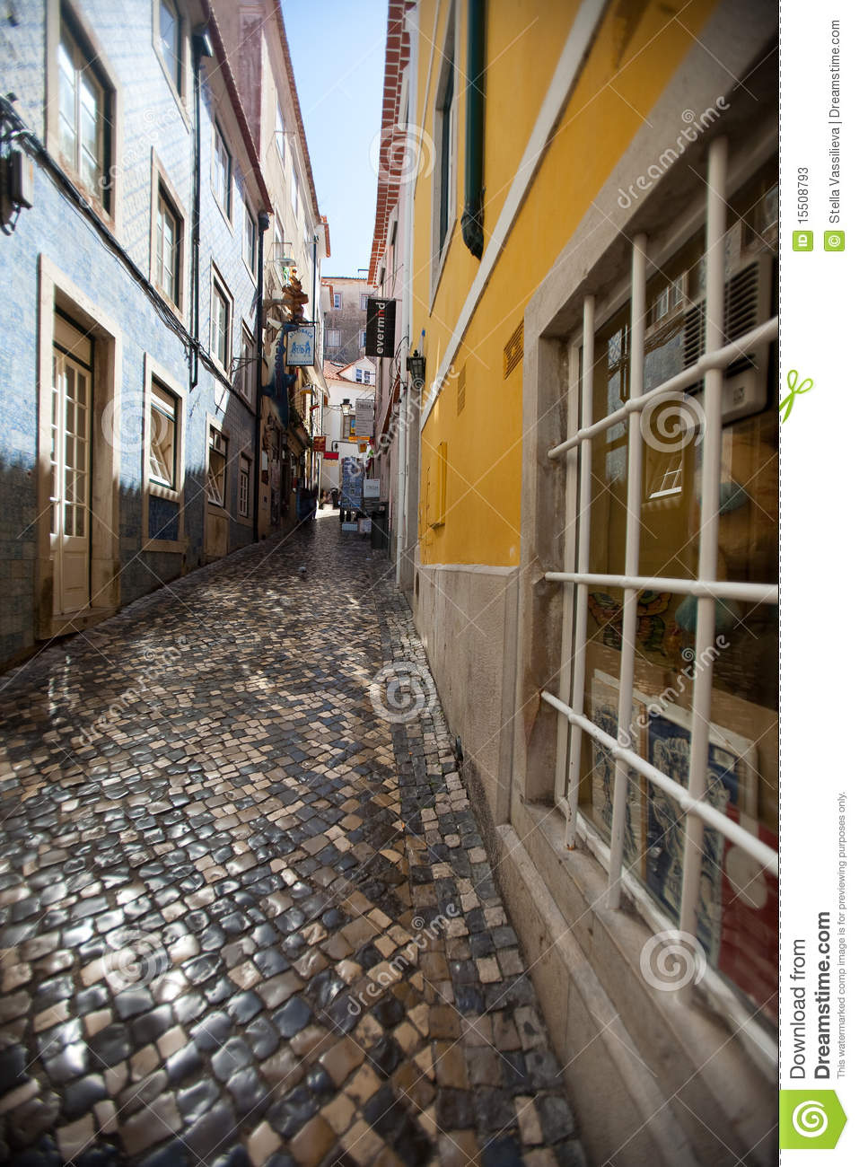 Narrow Streets Of Small Town In Portugal Stock Image  Image 15508793