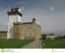 Narva Castle Estonia Ivangorod Russia Royalty Free Stock