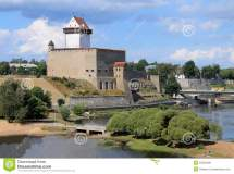 Narva Castle In Estonia Stock - 53550489