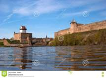 Narva Estonia - View Of Herman Castle And Ivangorod