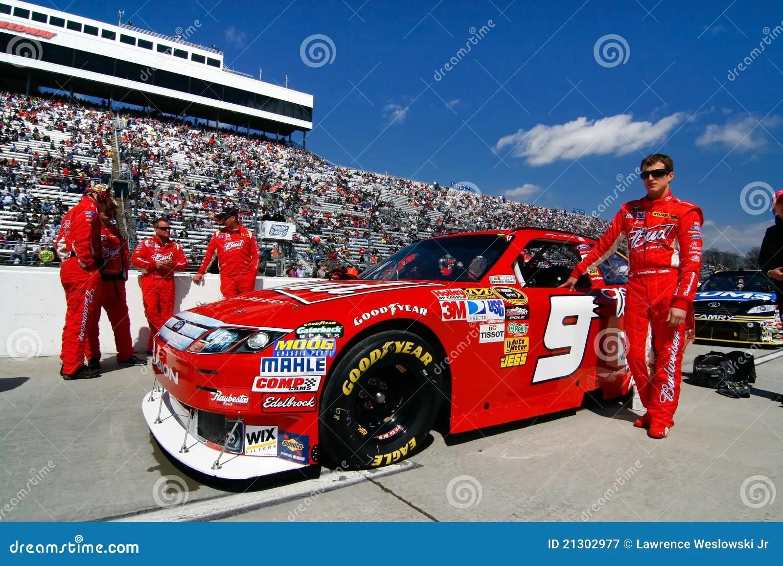 NASCAR 9 Kahnes Budweiser Car On Pit Road Editorial