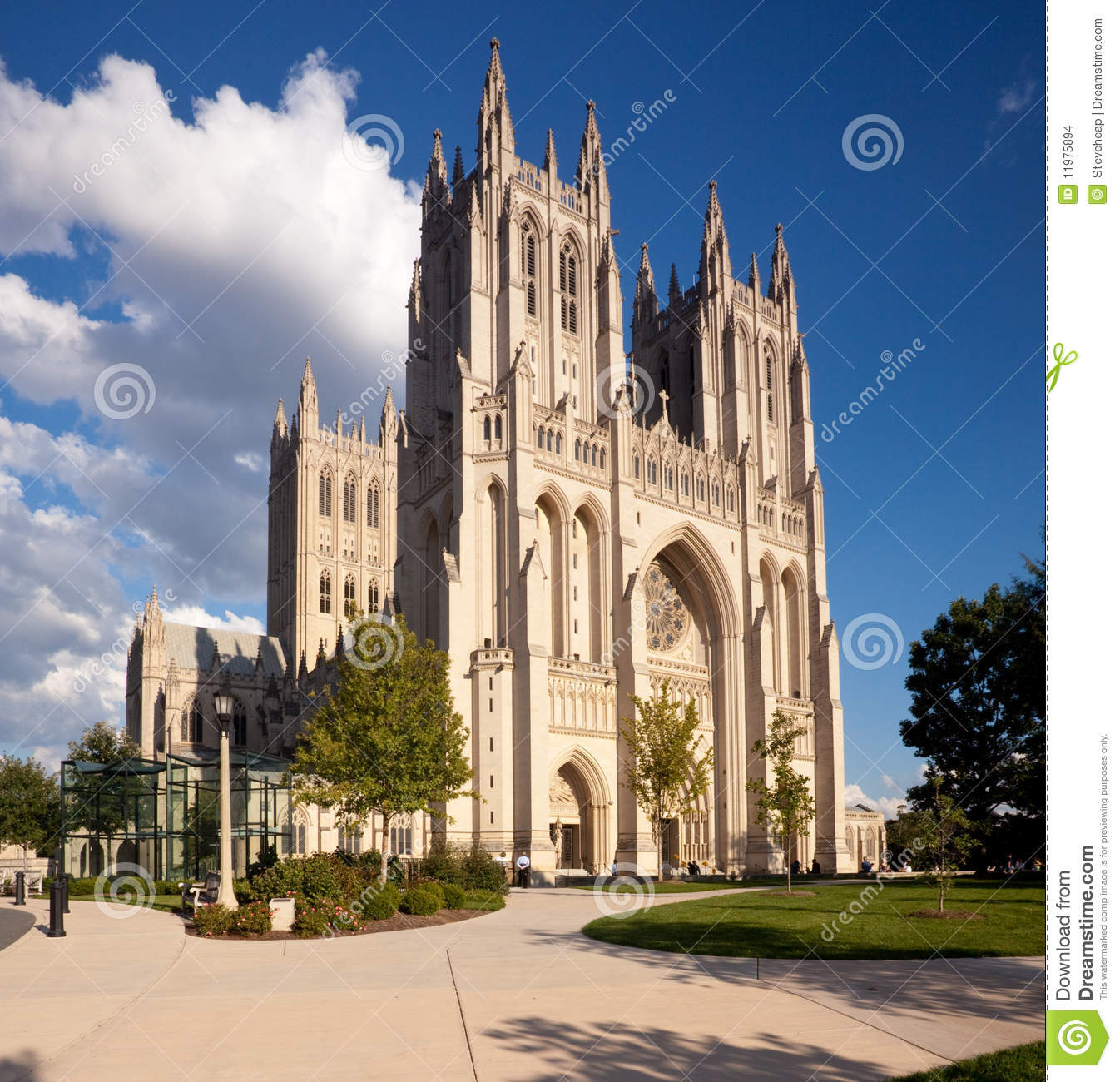 National Cathedral In Washington Dc Stock Photo