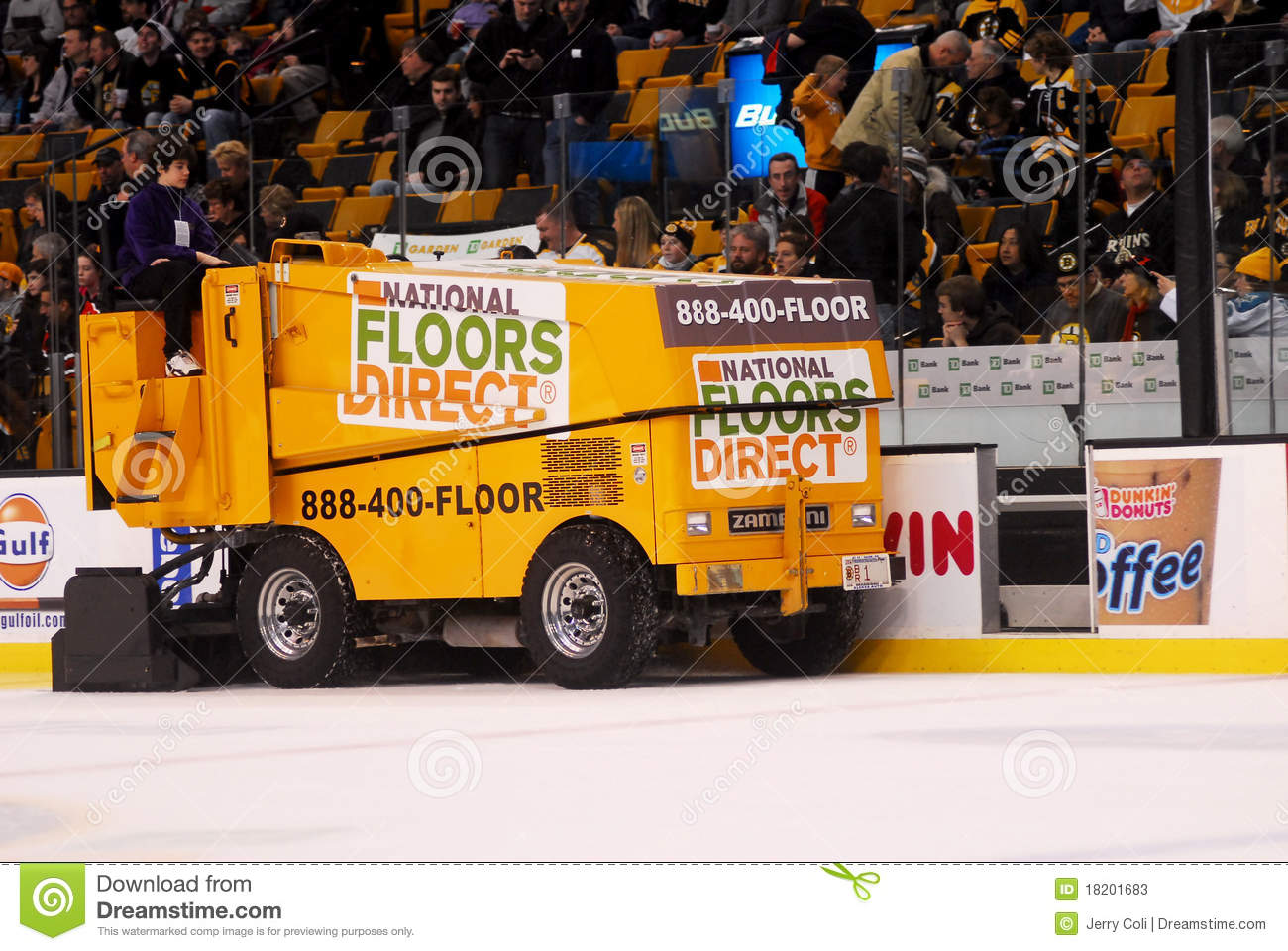 National Floors Direct Zamboni Editorial Stock Photo  Image of hockey machine 18201683