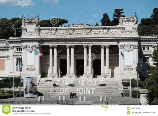 National Of Modern Art In Rome Editorial Stock