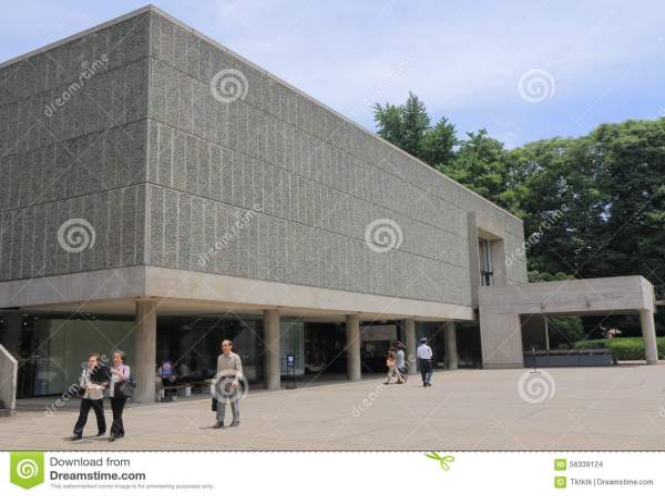 National Museum Of Western Art Tokyo Japan Editorial Stock - 56339124