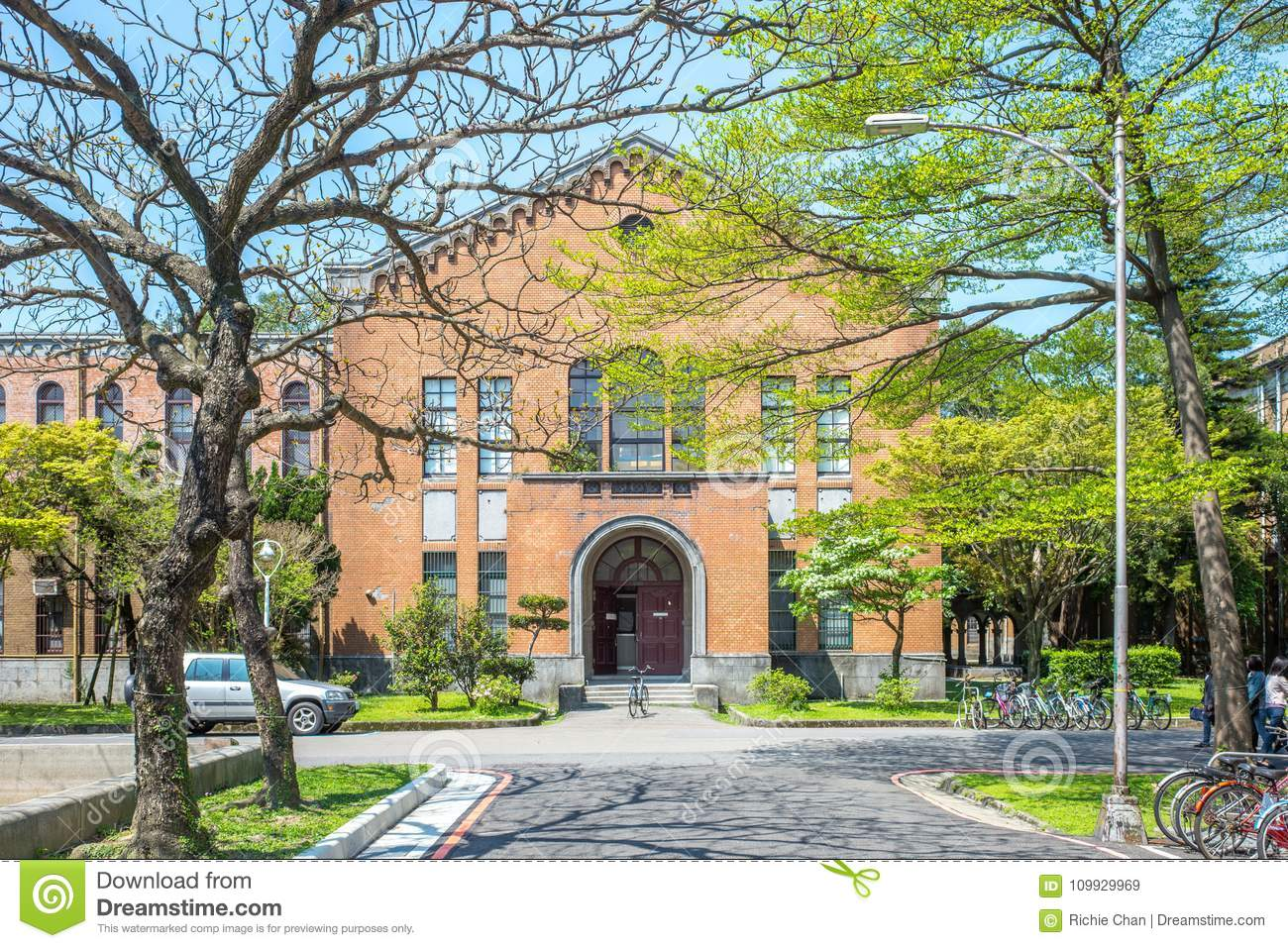 Building In National Taiwan University In Taipei Editorial Stock Image - Image of gate. college: 109929969