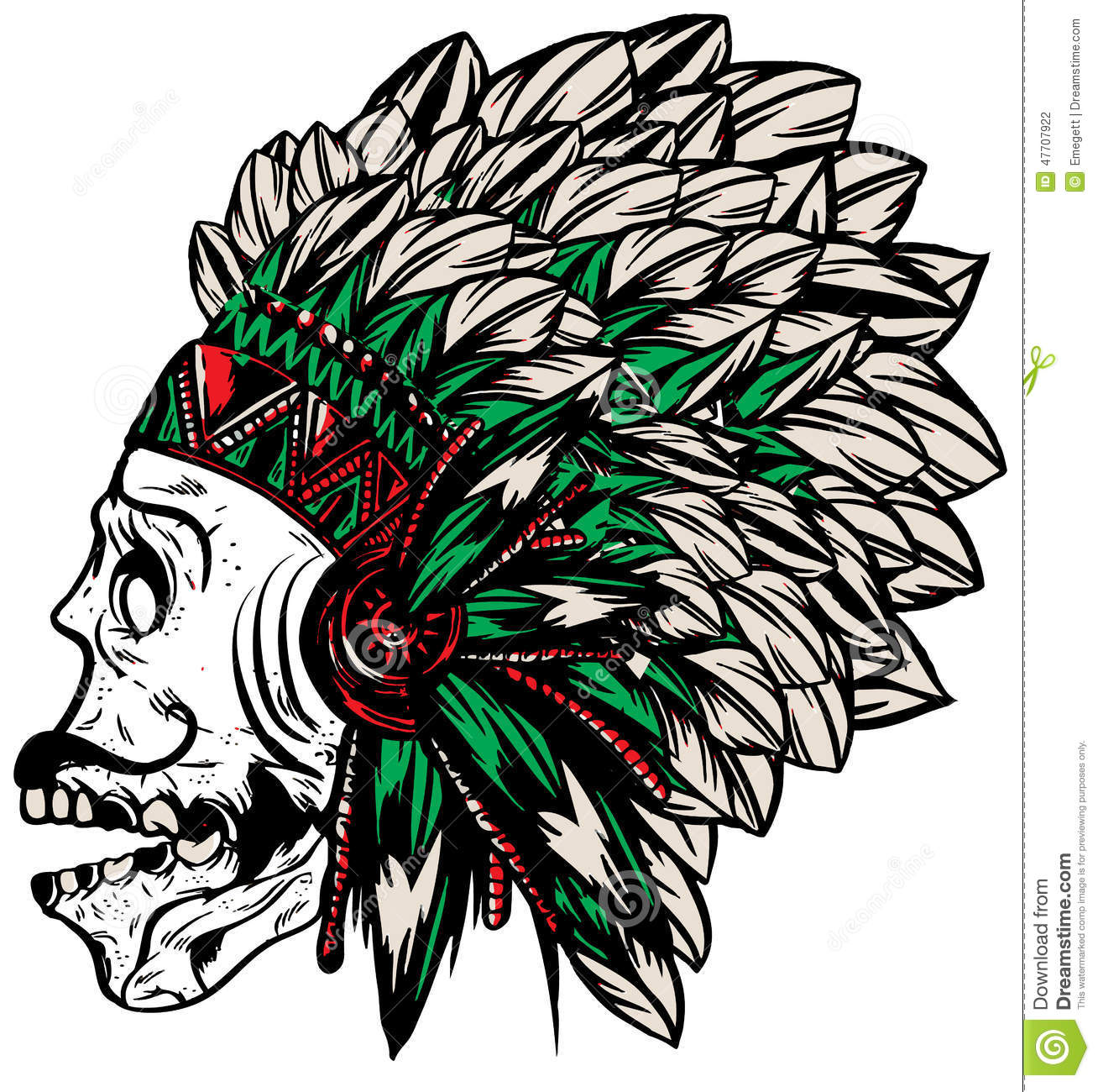 hight resolution of native american indian chief headdress t shirt graphics