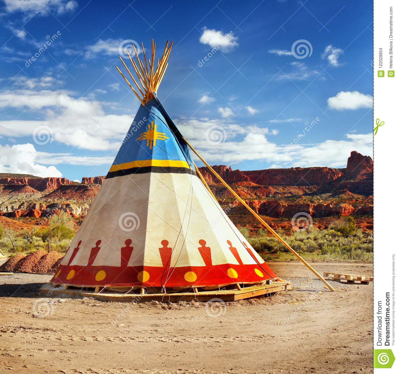 Native American Indian Tent Teepee Stock Photo