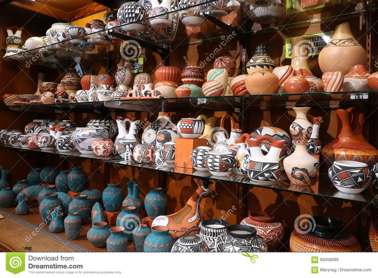 Native Americans Craft T Shop Stock Image