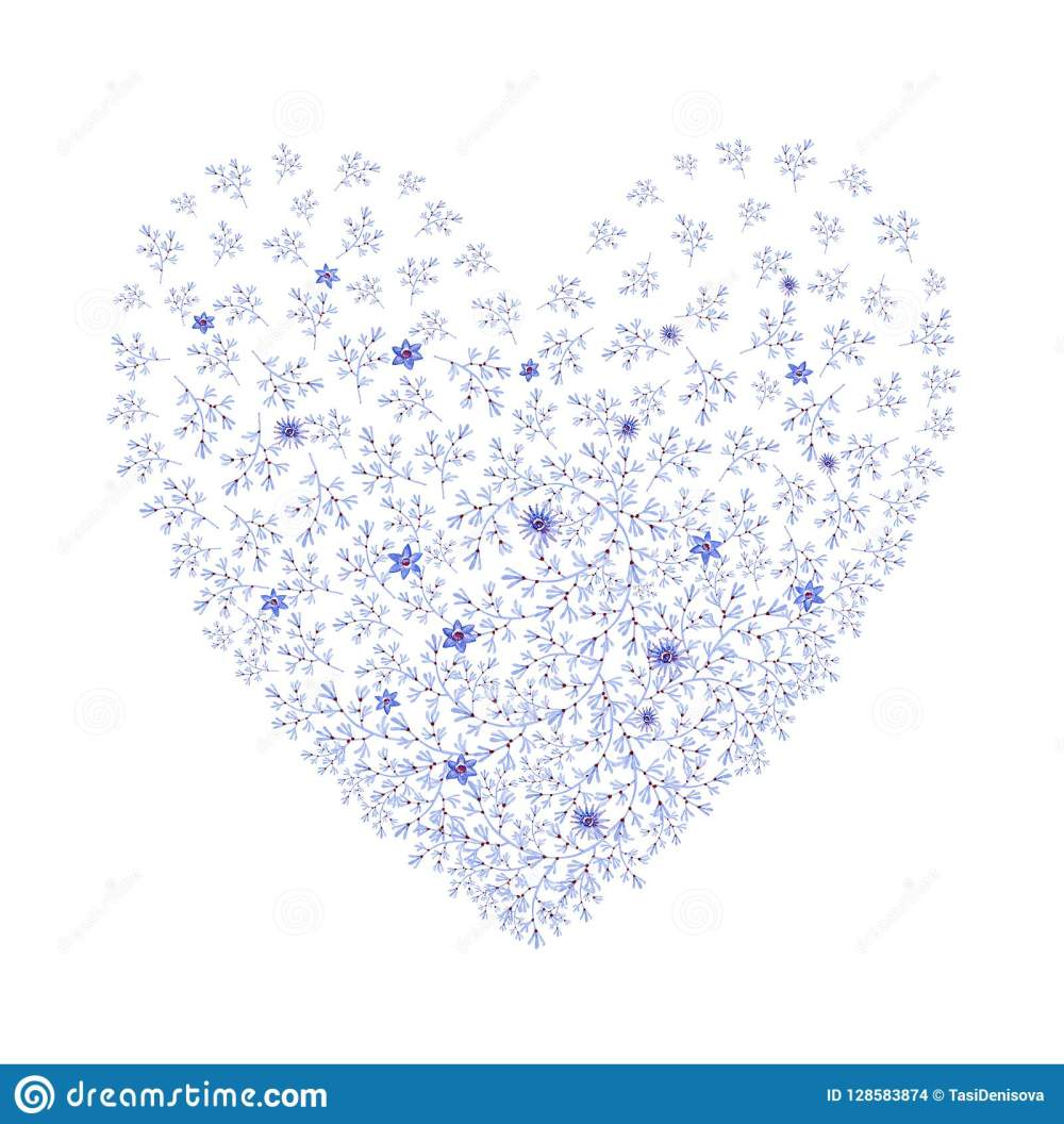 medium resolution of natural blue heart shaped with flowers cliparts for wedding design artistic creation