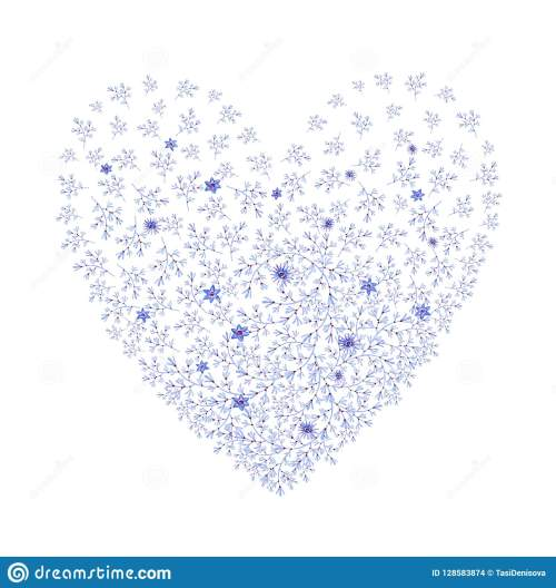 small resolution of natural blue heart shaped with flowers cliparts for wedding design artistic creation