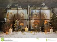 Natural Handmade Christmas Decoration Of Wood Outdoor In