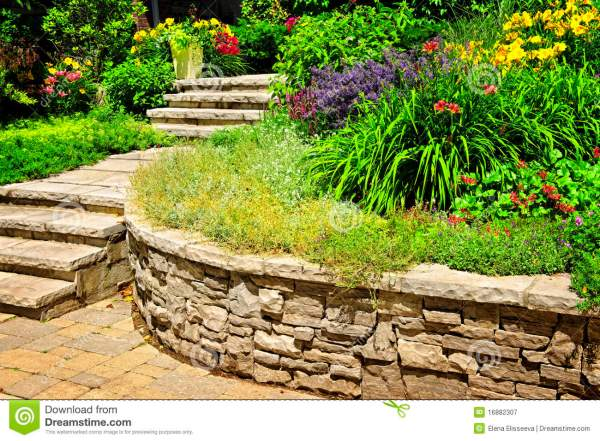 natural stone landscaping stock