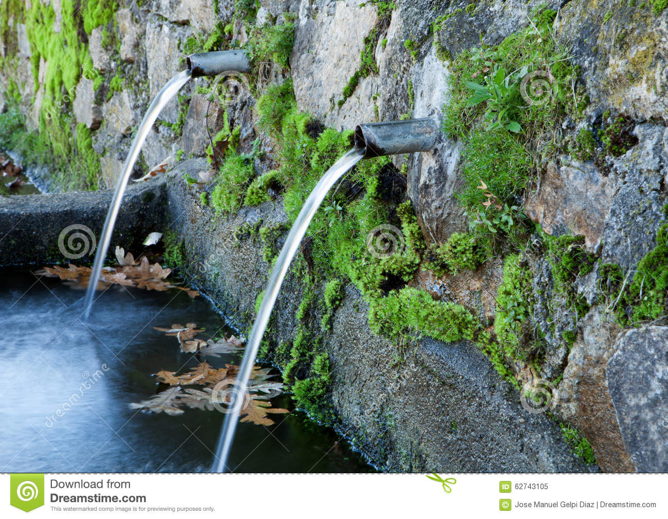 Natural Water Sources Stock Image Image Of Fresh Liquid