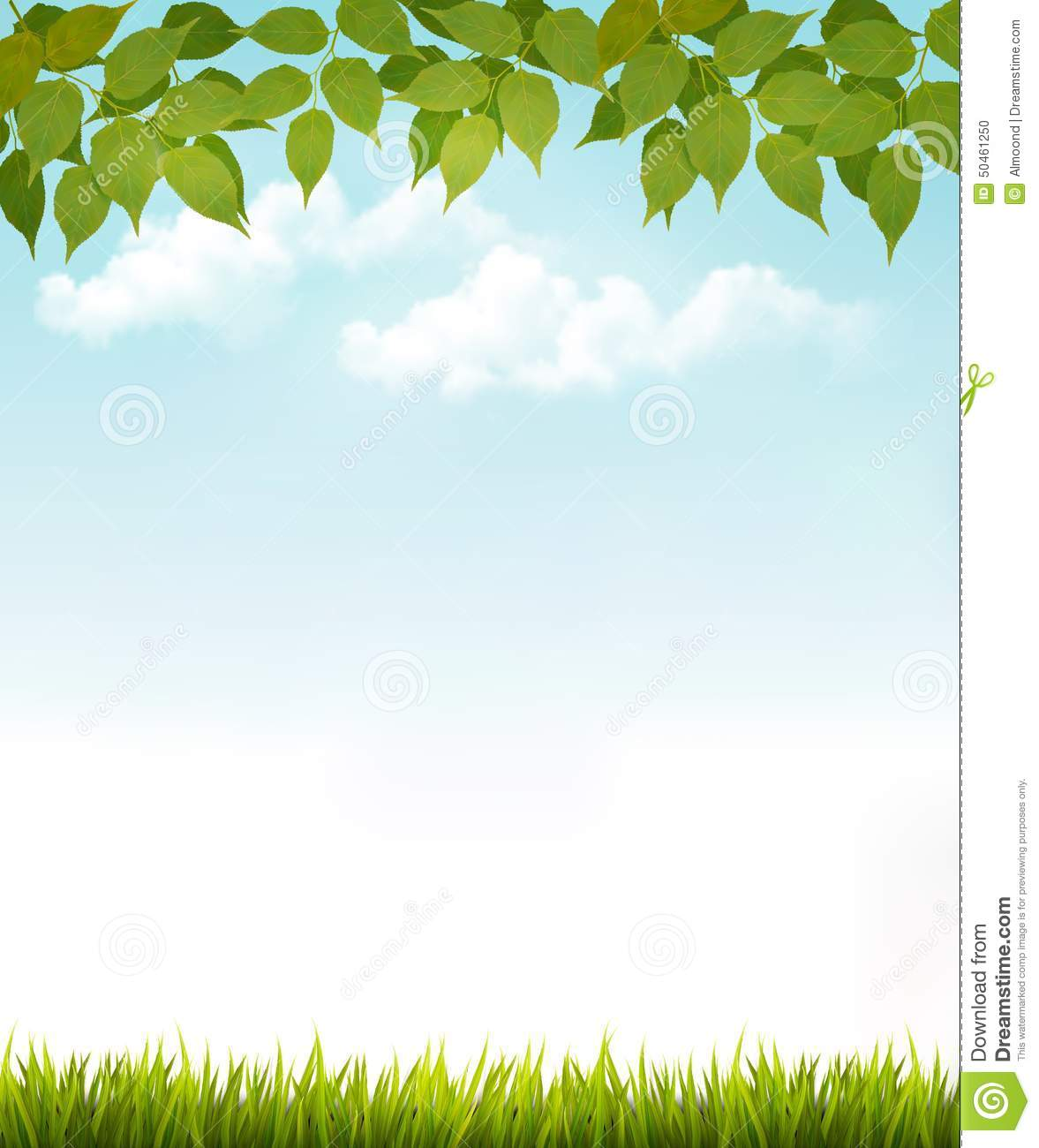 Autumn Tree Leaf Fall Animated Wallpaper Nature Background With Leaves And Grass Stock Photo