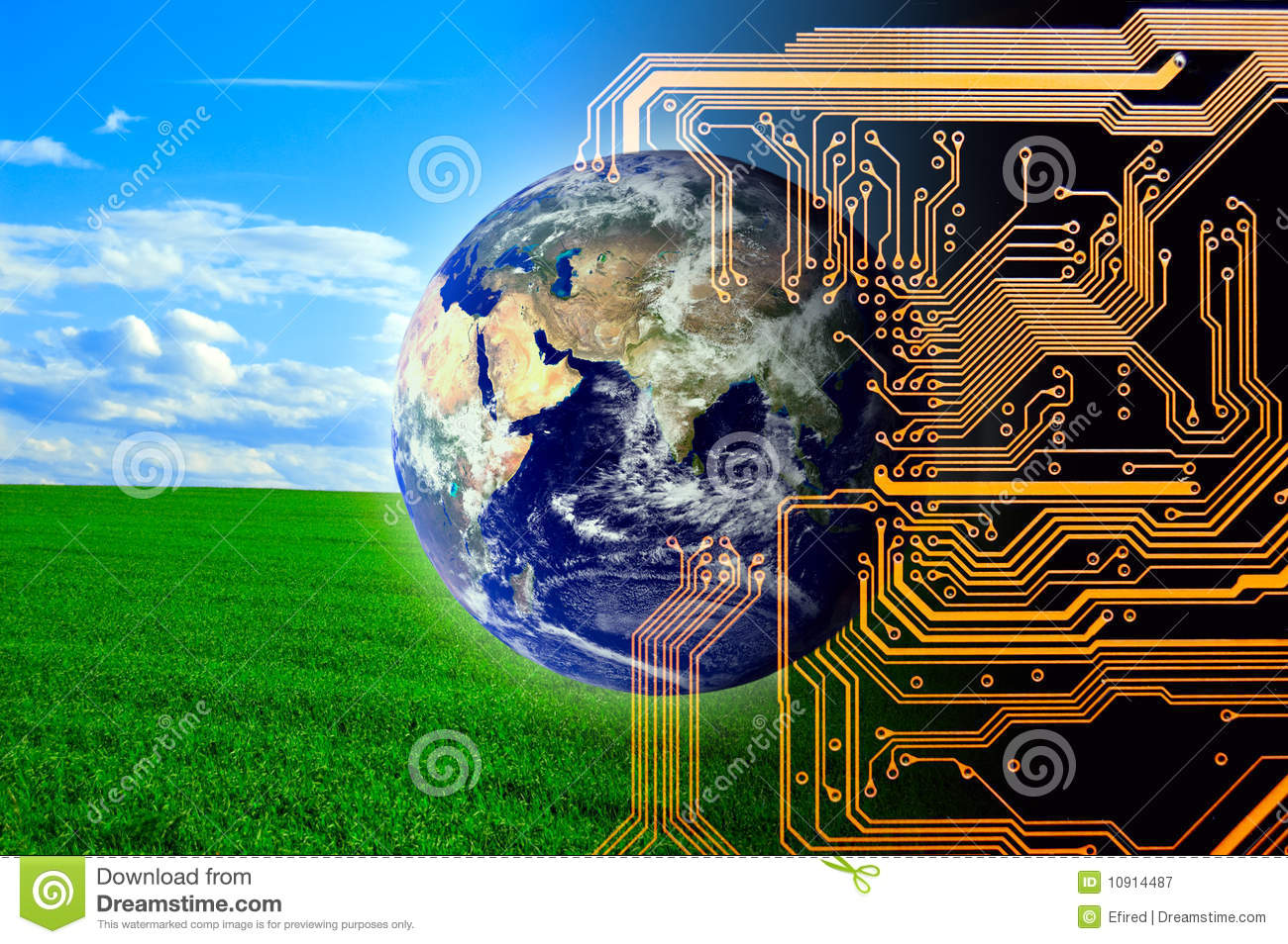 Nature And Technology Royalty Free Stock Photography  Image 10914487