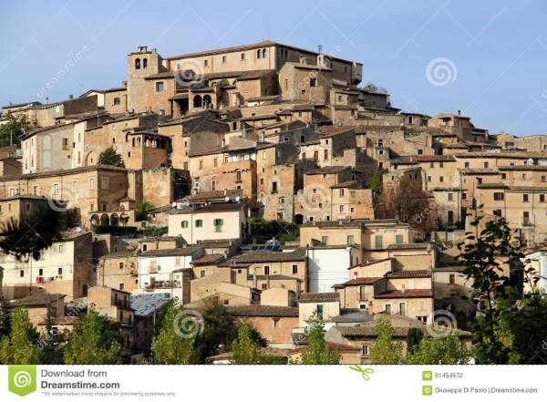 Navelli A Medieval Town In Abruzzo Italy Stock Photo