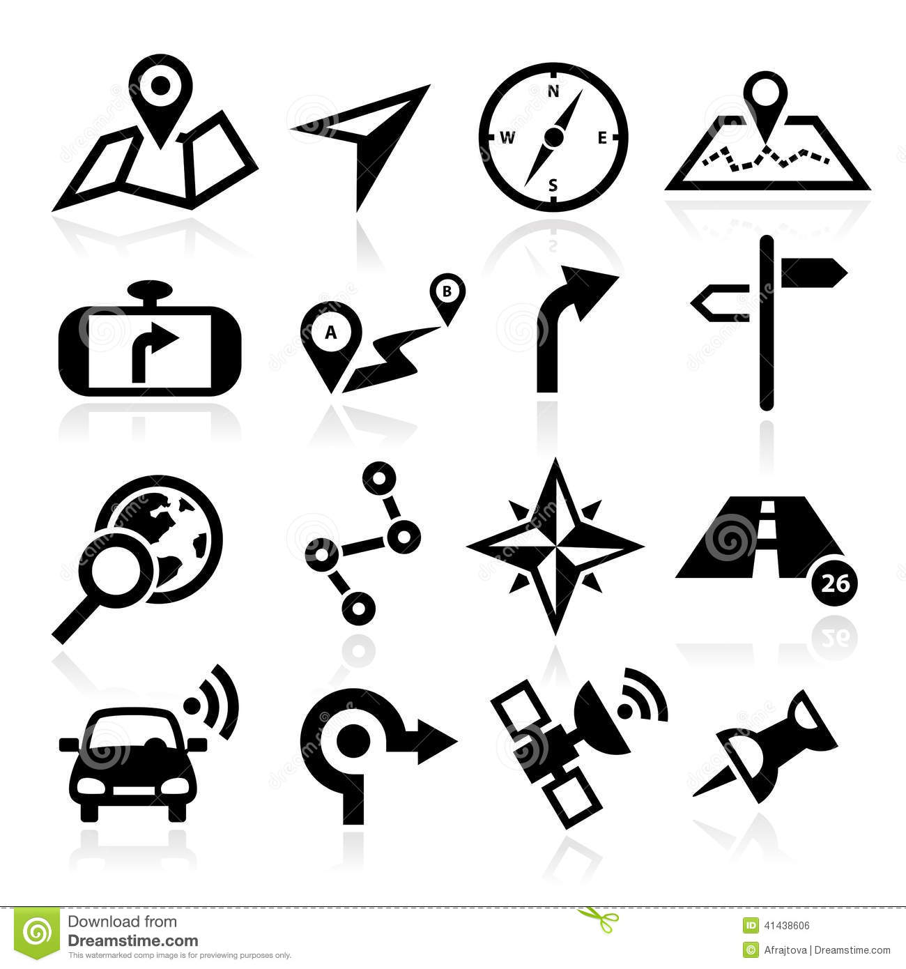 Navigation Icons stock vector. Illustration of element