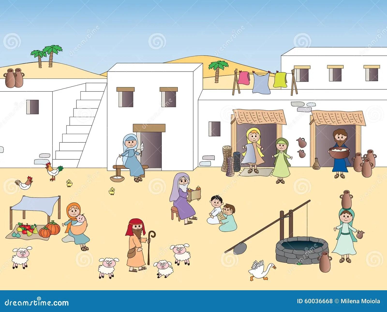 Nazareth At The Time Of Jesus Stock Illustration