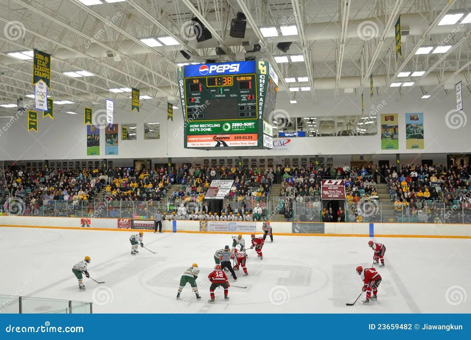 NCAA Ice Hockey Game In Clarkson University Editorial