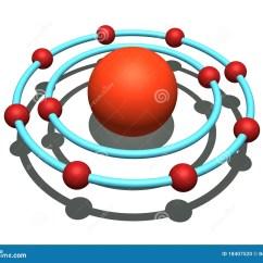 Neon Atom Diagram John Deere 2640 Alternator Wiring Stock Photo Image 18407520