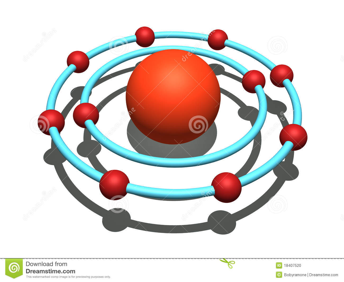 hight resolution of 3d bohr model of neon 800 600