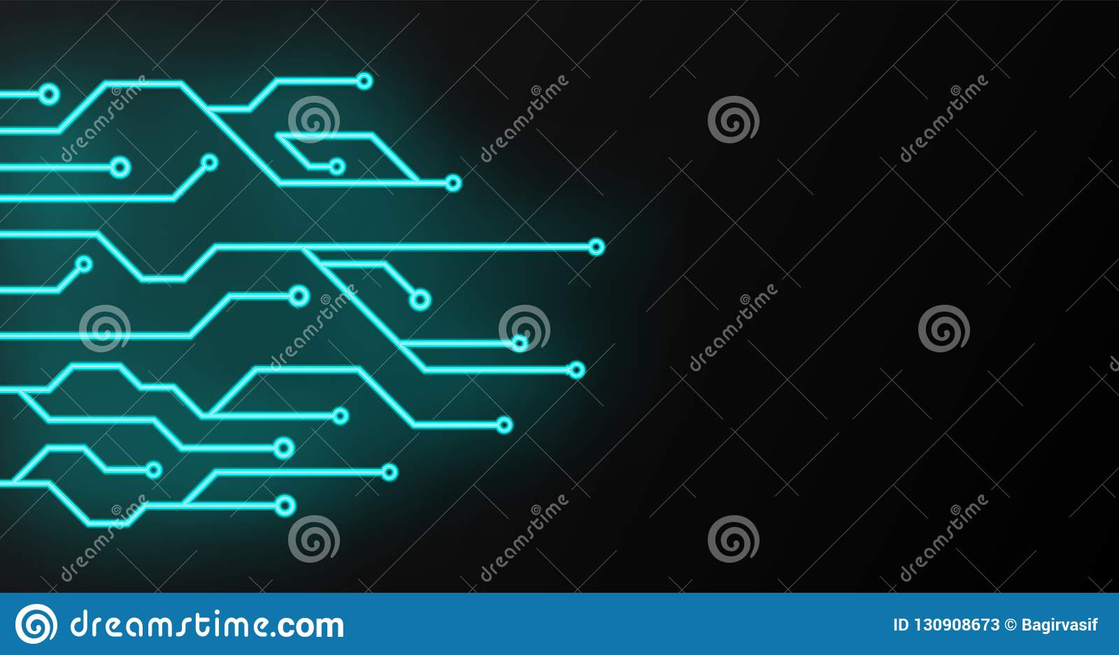 hight resolution of circuit board sign icon technology scheme square symbol vector illustration glowing