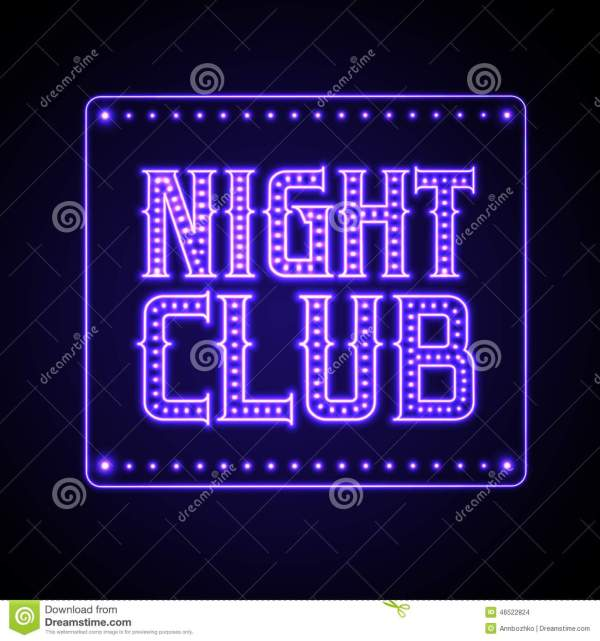 Neon Sign. Night Club Stock Vector. Illustration Of Point