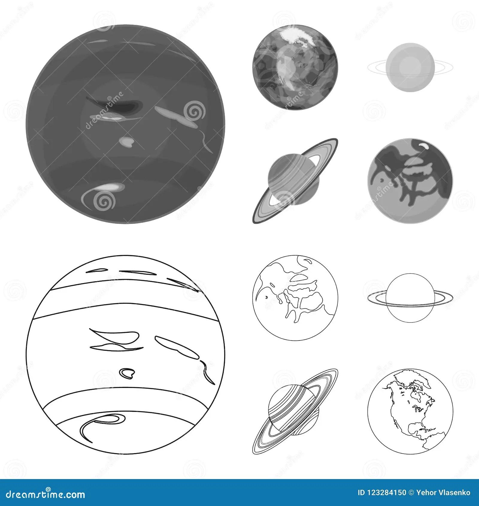 Neptune Mars Saturn Urof The Solar System Planets